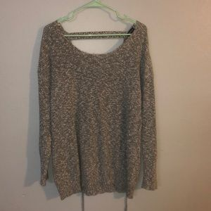 Torrid Marled Black and Ivory Sweater
